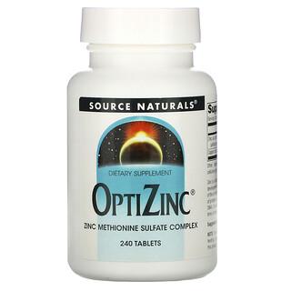 Source Naturals, OptiZinc, 240 Tablets