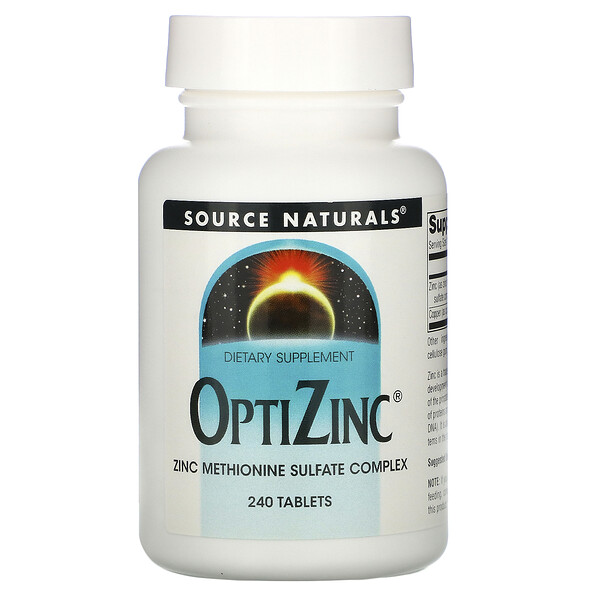 Source Naturals, OptiZinc 鋅片,240 片