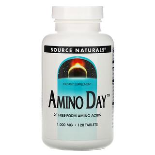 Source Naturals, Amino Day, 1,000 mg, 120 Tabletas