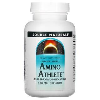 Source Naturals, AthleticSeries, Suplemento de aminoácidos para atletas, 1000 mg, 100 comprimidos