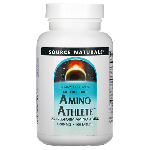 Source Naturals, Athletic Series, Aminosäuren für Sportler, 1.000 mg, 100 Tabletten