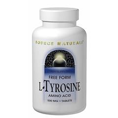 Source Naturals, L-チロシン, 500 mg, 100錠