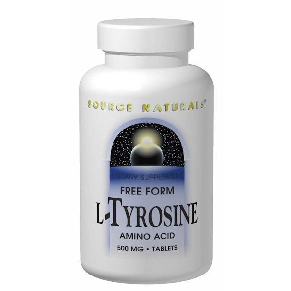 Source Naturals, L-Tyrosine, 500 mg, 100 Tablets