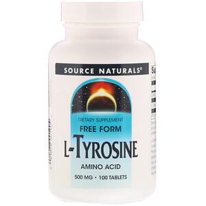 Сорс Начэралс, L-Tyrosine, 500 mg, 100 Tablets отзывы покупателей