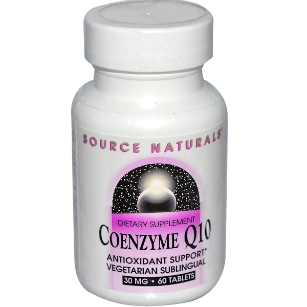 Source Naturals, Coenzyme Q10, 30 mg, 60 Tablets (Discontinued Item)