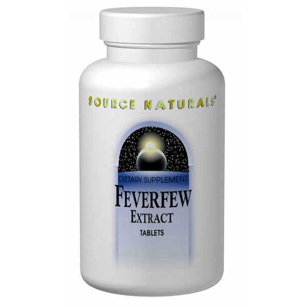 Source Naturals, Feverfew Extract, 100 Tablets (Discontinued Item)