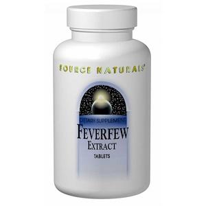 Сорс Начэралс, Feverfew Extract, 100 Tablets отзывы