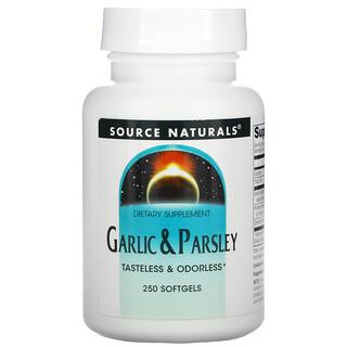 Source Naturals, Garlic & Parsley, 250 Softgels