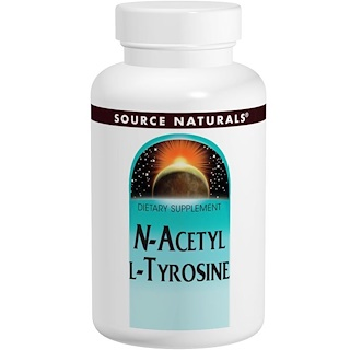 Source Naturals, N-acetil L-tirosina, 300 mg, 120 Tabletes
