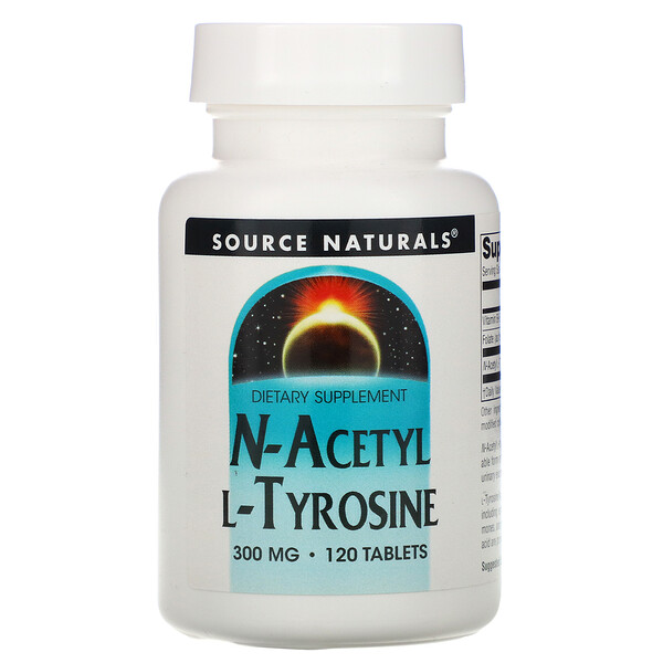 Source Naturals, N-Acetil L-Tirosina, 300 mg, 120 Comprimidos