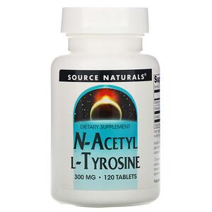 Сорс Начэралс, N-Acetyl L-Tyrosine, 300 mg, 120 Tablets отзывы