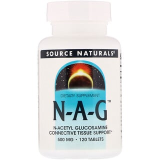 Source Naturals, N-A-G, 500 mg, 120 Tabletten