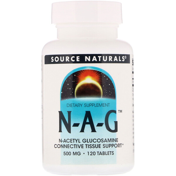 Source Naturals, N-A-G, 500 mg, 120 Tablets