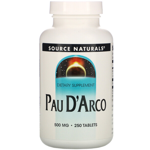Source Naturals, Pau D'Arco, 500 mg, 250 Tabletes