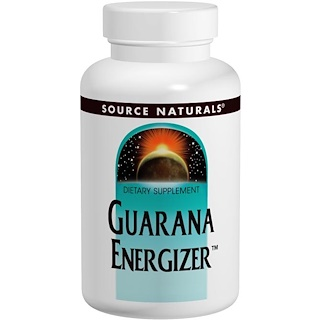 Source Naturals, Guarana Energizer, 900 mg, 200 Tablets
