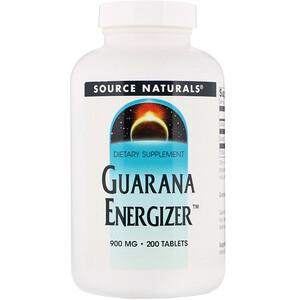 Сорс Начэралс, Guarana Energizer, 900 mg, 200 Tablets отзывы покупателей