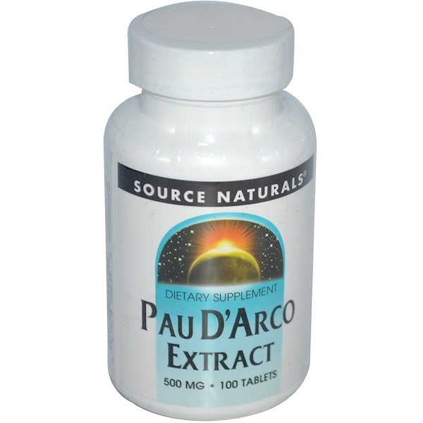 Source Naturals, Extracto de Lapacho, 500 mg, 100 comprimidos