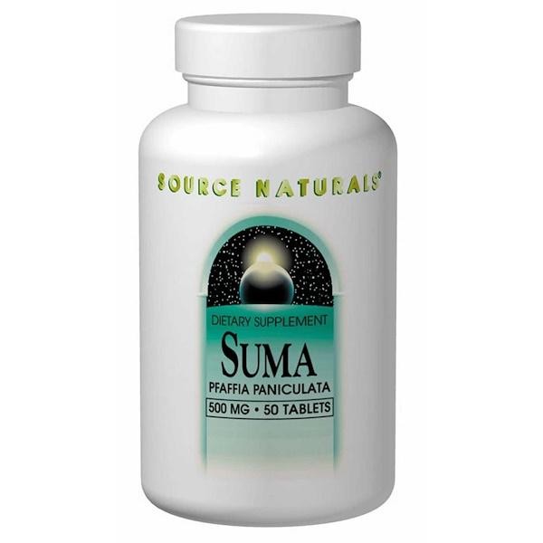 Source Naturals, Suma, 500 mg, 50 Tablets (Discontinued Item)