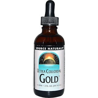 Source Naturals, Ultra Colloidal Gold, 10 PPM, 2 fl oz (59.14 ml)