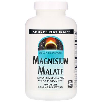 Купить Source Naturals малат магния, 3750мг, 180таблеток