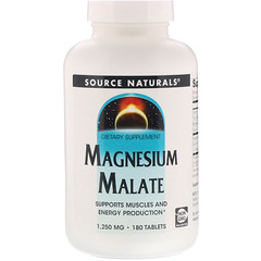 Source Naturals, Magnesium Malate,1,250 mg, 180 정