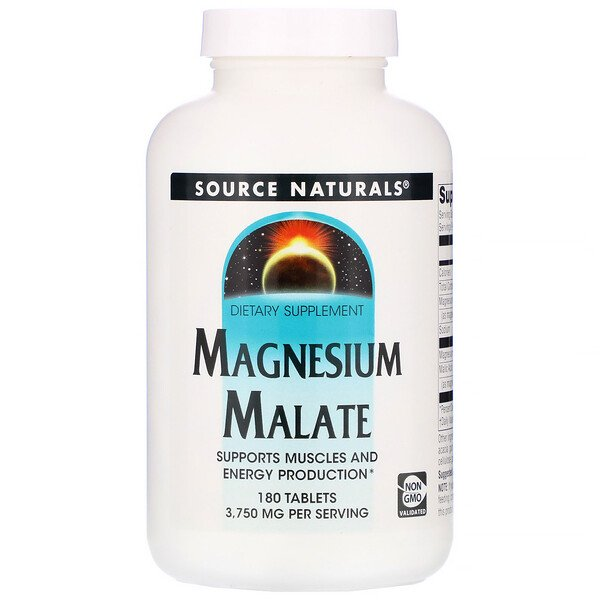 Magnesium Malate, 3,750mg, 180정