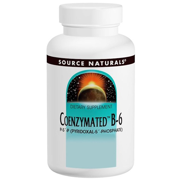 Source Naturals, Coenzymated B-6, 25 mg, 120 Tablets
