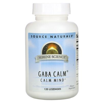 Source Naturals GABA Calm, со вкусом мяты перечной, 120 леденцов