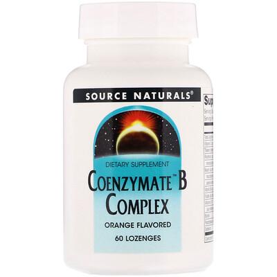 Source Naturals Комплекс витаминов B Coenzymate, апельсиновый вкус, 60 леденцов