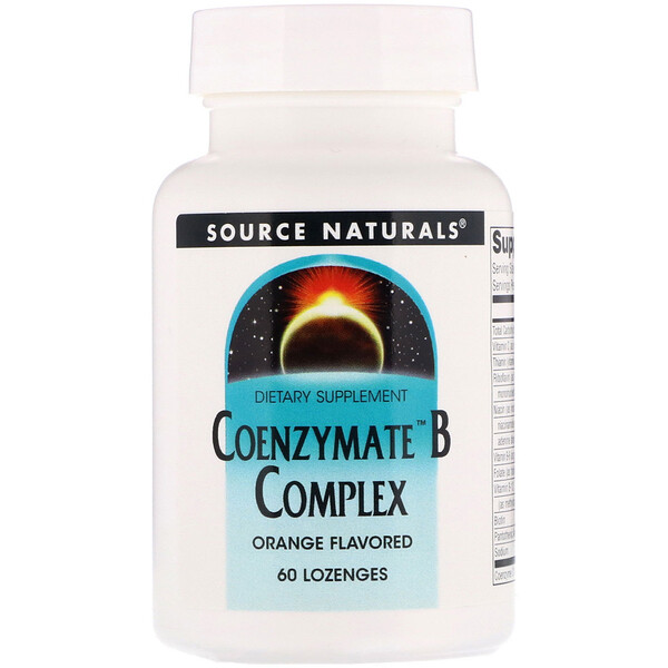 Source Naturals, Coenzymate B Complex, Orange Flavored, 60 Lozenges