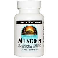 Мелатонин, леденцы с апельсиновым вкусом, 2,5 мг, 240 леденцов - фото