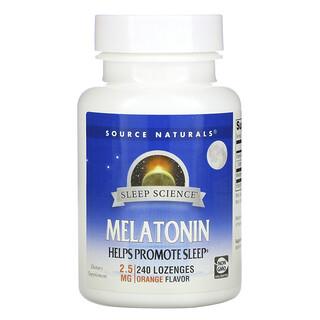 Source Naturals, Melatonin, Orange, 2.5 mg, 240 Lozenges