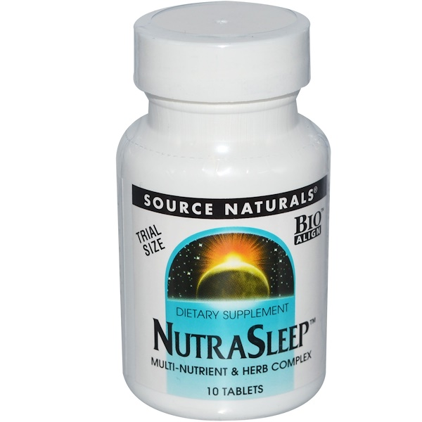 Source Naturals, NutraSleep, 10 Tablets (Discontinued Item)