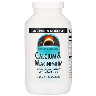 Кальций и магний, 300 мг, 250 таблеток