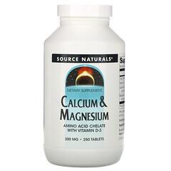 Source Naturals, 鈣鎂營養片,300 毫克,250 片裝