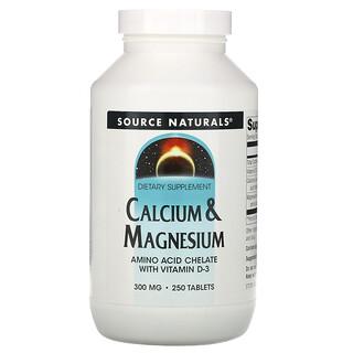 Source Naturals, كالسيوم وماغنسيوم، 300 مجم، 250 قرصًا