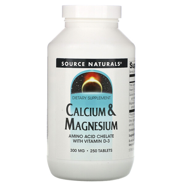 Source Naturals, Calcium & Magnesium, 300 mg, 250 Tablets