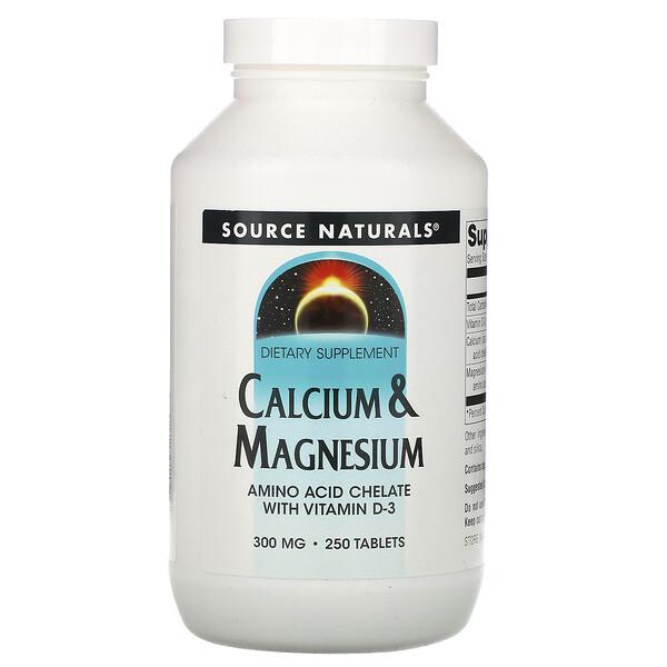 Calcium & Magnesium, 300 mg, 250 Tablets