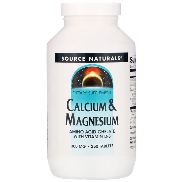 Calcium & Magnesium, 300 mg, 250 Tablets