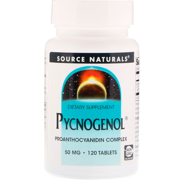 Source Naturals, Pycnogenol, 50 mg, 120 Tablets