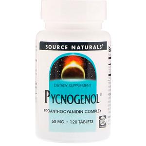 Сорс Начэралс, Pycnogenol, 50 mg, 120 Tablets отзывы