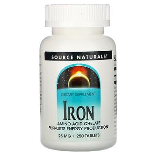Source Naturals, Iron, 25 mg, 250 Tablets