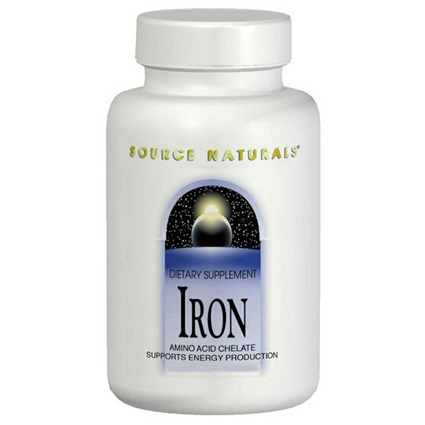 Source Naturals, 鉄, 25 mg, 250 タブレット