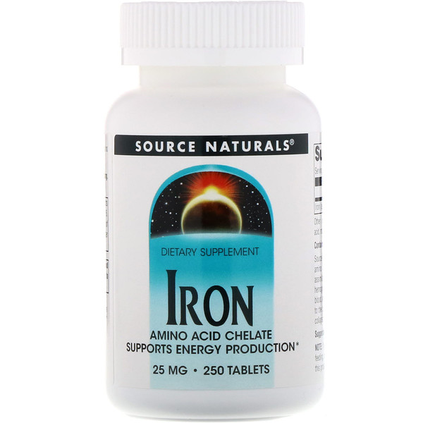 Iron, 25 mg, 250 Tablets