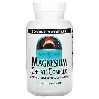 Source Naturals, Magnesium Chelate Complex, 100 mg, 250 Tablets