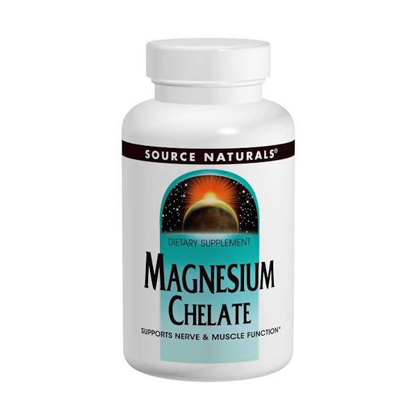 Source Naturals, Magnesium Chelate, 100 mg, 250 Tablets