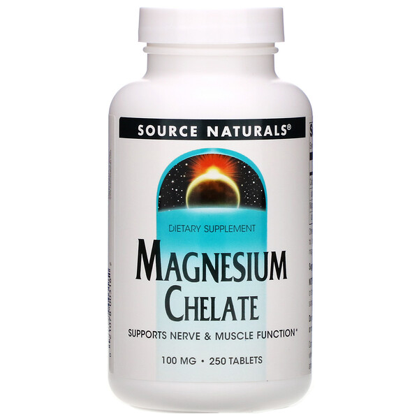 Magnesium Chelate, 100 mg, 250 Tablets