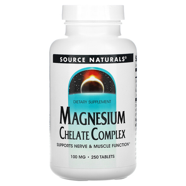 Magnesium Chelate Complex, 100 mg, 250 Tablets
