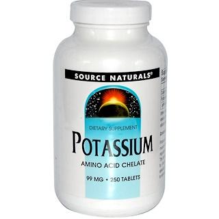 Source Naturals, Potassium, 99 mg, 250 Tablets