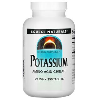 Source Naturals, Kalium, 99 mg, 250 Tabletten
